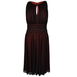 Jessica Howard Women's Beaded Keyhole Dress