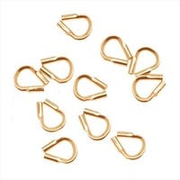 Wire & Thread Protectors, .019 Inch Loops, 10 Pieces, 14K Gold Filled