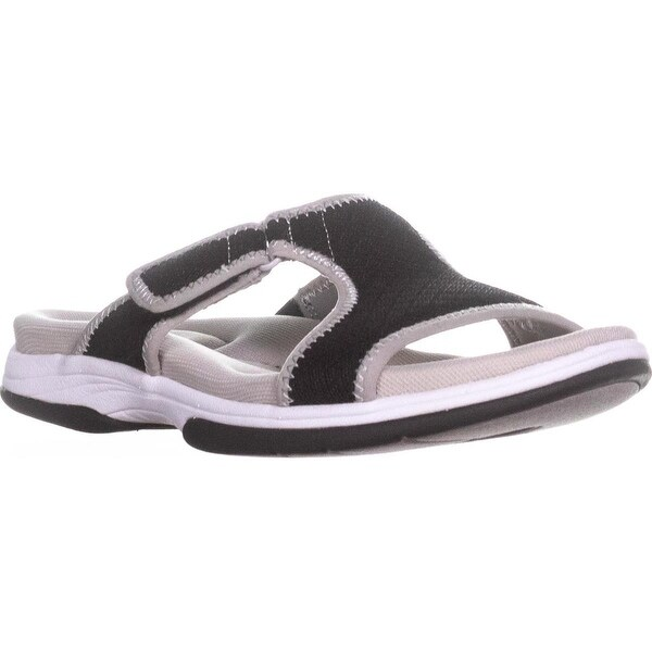 Easy Street Sport Garbo Sport Sandals, Black/Grey - 8 us