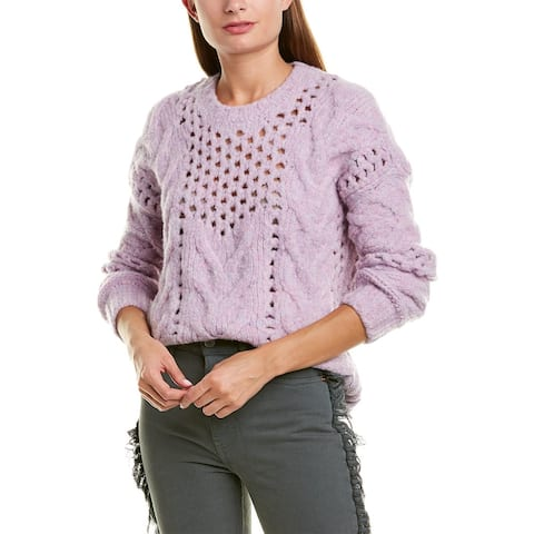Iro Eyelet Knit Wool-Blend Sweater