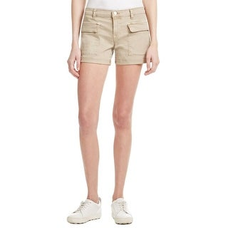 J Brand Womens Kai Cargo Shorts Deep Front Pockets Cuffed