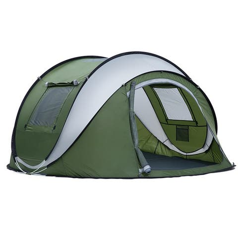 3-4 Person Pop Up Tents, Instant Automatic Family Waterproof Camping Tents for Camping, Hiking and Traveling