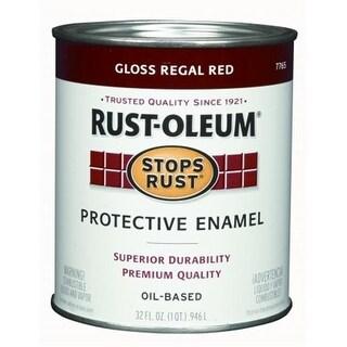 Rustoleum 1 Quart Regal Red Gloss Stops Rust Protective Enamel