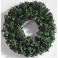 - Canadian Pine Wreath 220 Tips; 24""