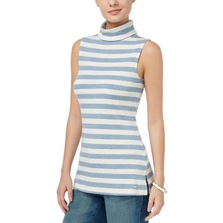 Tommy Hilfiger Womens Casual Top Turtleneck Striped