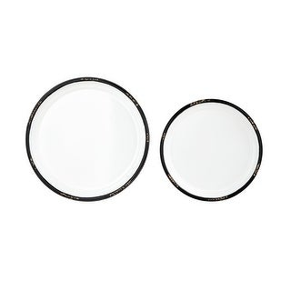 IMAX Home 17364-2  Irina MDF Decorative Plates - Set of 2 - White