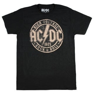 ACDC Original High Voltage Concert Men's T-Shirt Rock n Roll Music