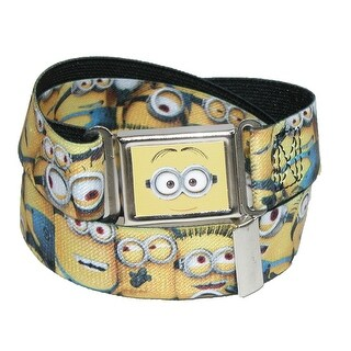 Buckle Down Kids' Magnetic Buckle Dispicable Me Minions Stretch Belt - Yellow - One Size