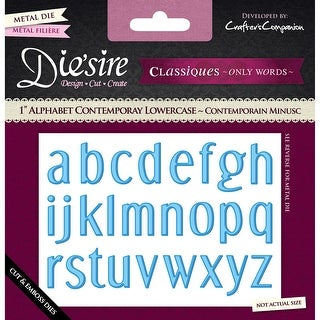 "Die'sire Decorative 1"" Alphabet Dies-Lowercase"