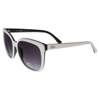 Lacoste L747/S 105 White/Black Square sunglasses Sunglasses