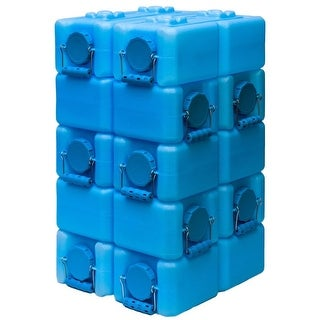WaterBrick BPA Free 3.5-gallon Water Storage Container (Set of 10) - Blue