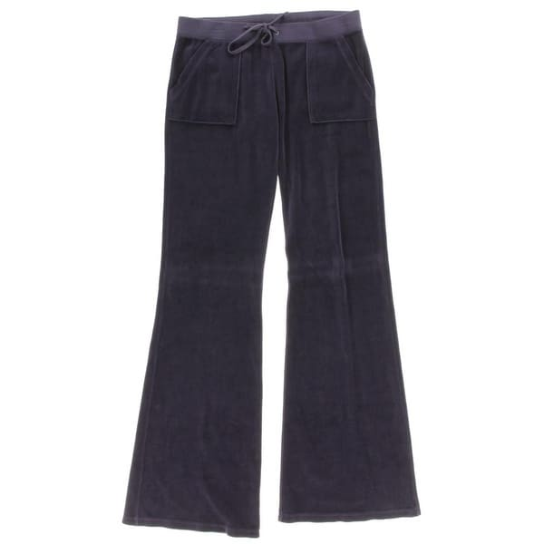 Juicy Couture Womens Lounge Pants Velour Wide Leg - S