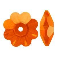 Swarovski Elements Crystal, 3700 Flower Margarita Beads 6mm, 12 Pieces, Sun