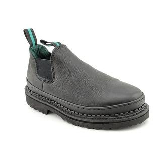 Georgia Boot Romeo Women Round Toe Leather Black Work Shoe
