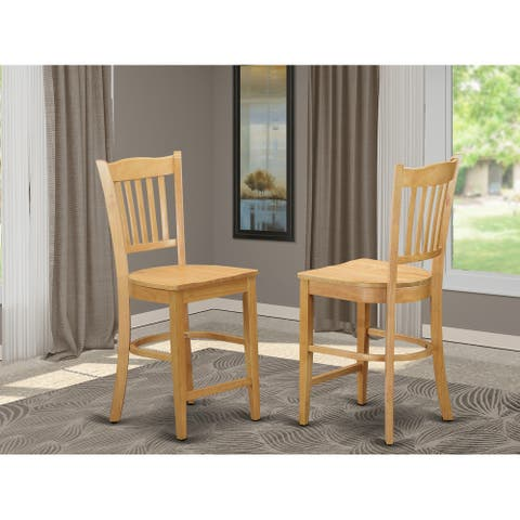 Groton Counter Stools With Wood Seat (Set of Two)