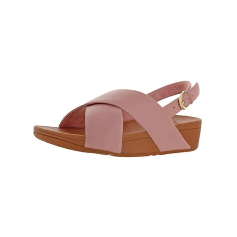 59dfa7467 Fitflop Womens Lulu Cross Back-Strap Slingback Sandals Solid Wedge