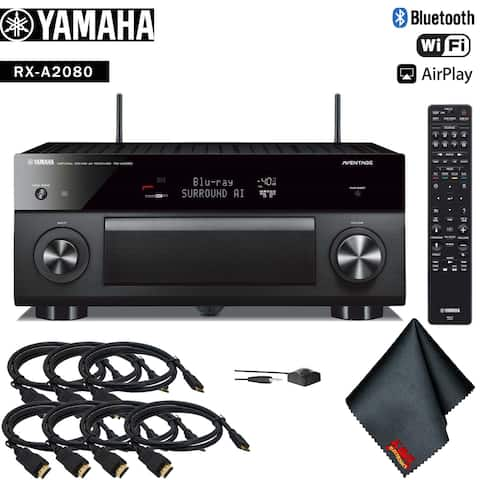 Yamaha AVENTAGE RX-A2080 9.2-Channel Network A/V Receiver Accessory Kit - Includes - 7 x HDMI Cable + More!