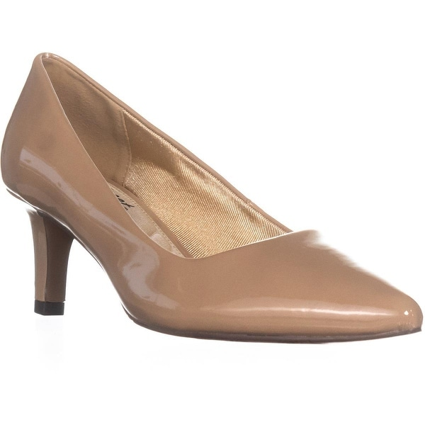 Easy Street Pointe Dress Pumps, Nude Patent