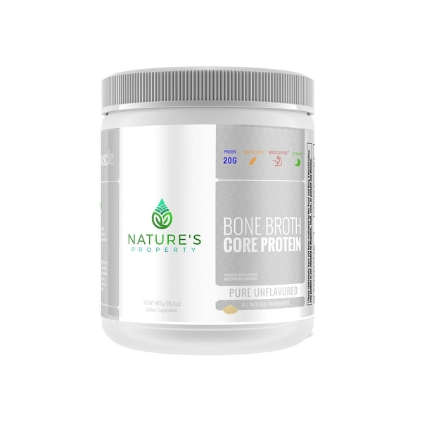 Nature's Property Bone Broth Core Protein - Pure Unflavored