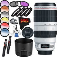 Canon EF 100-400mm f/4.5-5.6L IS II USM Lens International Version (No Warranty) Professional Accessory Combo