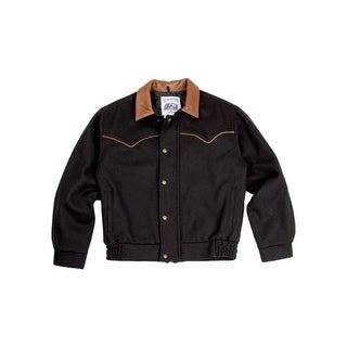Schaefer Western Jacket Mens Classic Melton Wool Bighorn Bomber