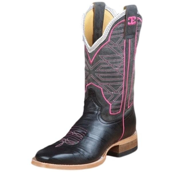 Cinch Western Boots Womens Leather Zebra Print Mad Dog Black