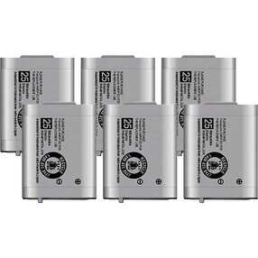 Replacement Battery For Panasonic BTS KX-TD7896 / KX-TD7896 Phone Models (6 Pack)