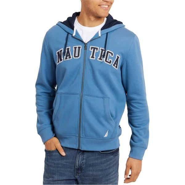 Nautica Mens Logo Hoodie Sweatshirt. Opens flyout.