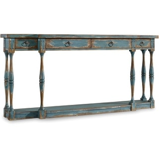 """Hooker Furniture 5405-85003  72"""" Long Hardwood Console Table from the Sanctuary Collection - Sky High Azure Blue"""