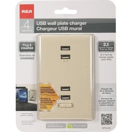 RCA Alm 2.1A 4 Usb Charger