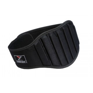 """Weight Lifting Belt Gym Back Support Fitness 8"""" Wide Neoprene With Mesh BlackBT3 - Black"""