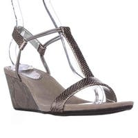 SC35 Mulan T-Strap Wedge Sandals, New Pewter