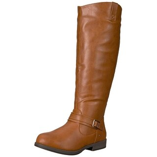 Brinley Co Women's Blaire Riding Boot Regular & Wide Calf