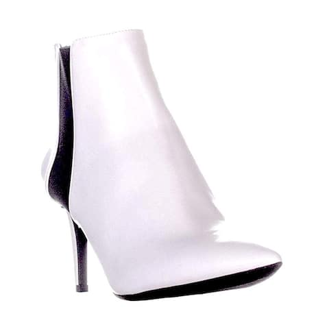 INC. IRSIA Gore Pointed Toe White Size 5 M US Ankle Bootie