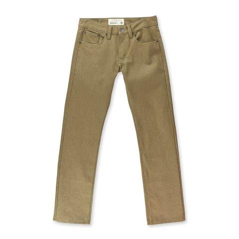 Ecko Unltd. Mens 714 Straight Leg Jeans, Brown, 28W x 32L - 28W x 32L