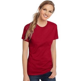 Hanes Women's Nano-T® T-shirt - Color - Deep Red - Size - 3XL