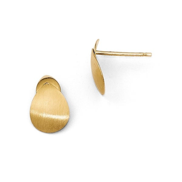 14k Gold Satin Post Earrings