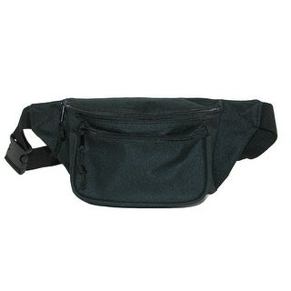 CTM® Three Pocket Waist Pack - Black