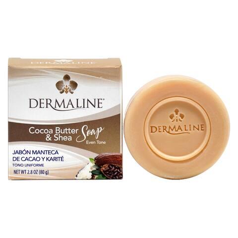 Dermaline Cocoa Butter and Shea Soap 2.8oz