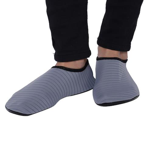 Grey Women Men Water Shoes Barefoot Quick-Dry Aqua Socks 11-12