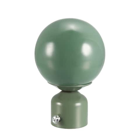 Curtain Rod Finials Iron Ball Cap for 28mm Drapery Pole Blue 90mm x 60mm 4 Pcs - Green - 1 Pack