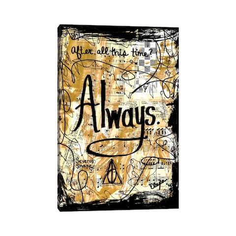 """iCanvas """"Always Harry Potter"""" by Elexa Bancroft Canvas Print"""