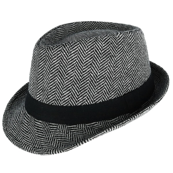 f829079a941d83 Shop Westend Men's Herringbone Trilby Fedora Hat - Free Shipping On ...