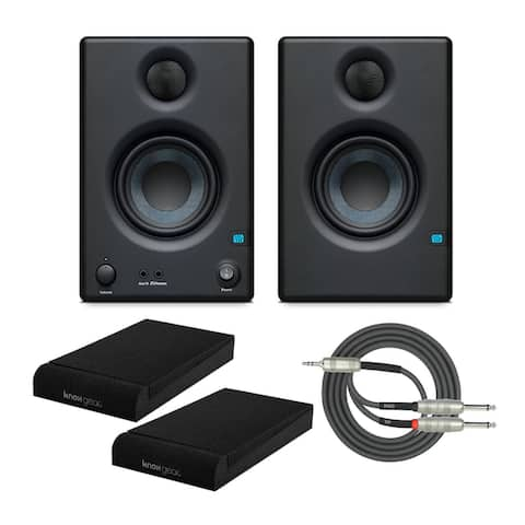 "Presonus 2-Way 3.5"" Near Field Studio Monitors with Pads and Cable"