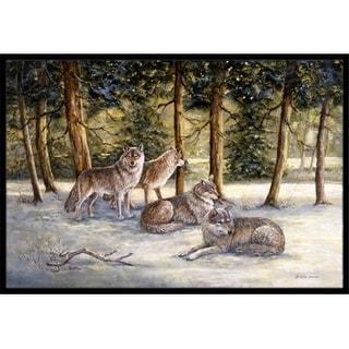 Carolines Treasures BDBA0371MAT Wolves by Daphne Baxter Indoor or Outdoor Mat 18 x 27