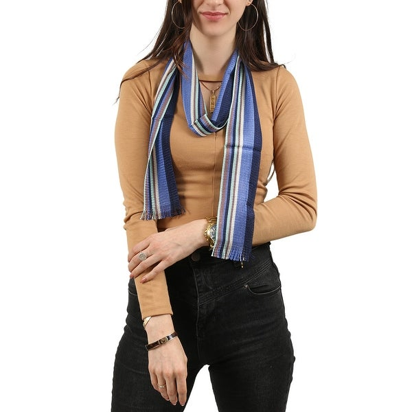 Missoni Periwinkle/Navy Striped Scarf - 2.8-68. Opens flyout.