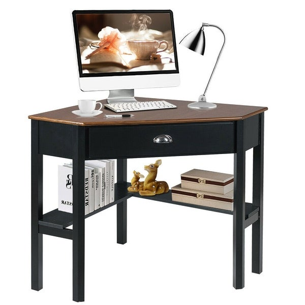 Computer Desk Zoom Open//Closed Pc Table Office Home Desktop Study Table Drawers