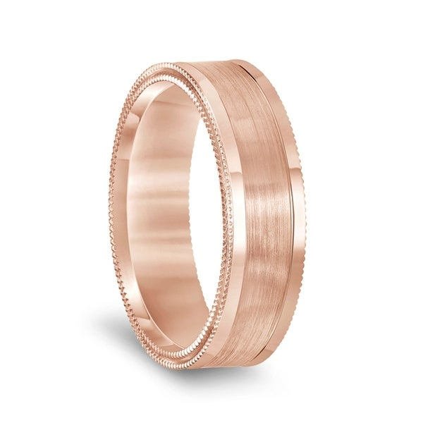 Mens Tungsten Wedding Band Matte Brushed Concave Center Polished Edges 8mm