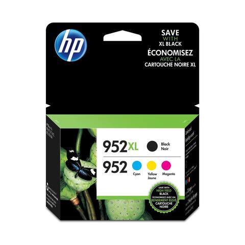 HP 952XL Black High-Yield & 952 Cyan, Magenta, Yellow Ink Cartridges, 4-Pack N9K28AN - N/A