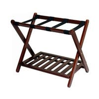 Casual Home 102-20 Luggage Rack with Shelf, Natural